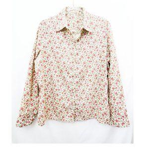 VTG Cotton Ditsy Liberty Floral Button Down EUC